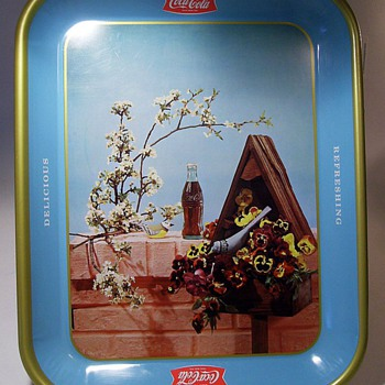1957 Coca Cola -- Birdhouse Tray ( Canadian )