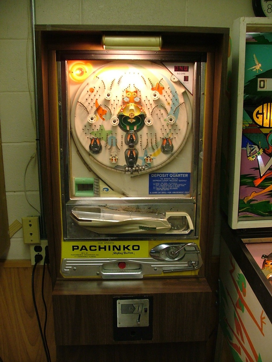 25 Cent Coin Operated Pachinko Machine Mid 70 S