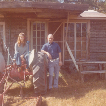 My Southern days on a Old tractor- memories of my Dad Happy Fathers Day today
