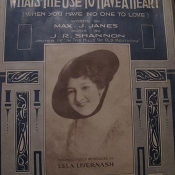 1916 Sheet Music- Sealed in plastic. Looks like new .
