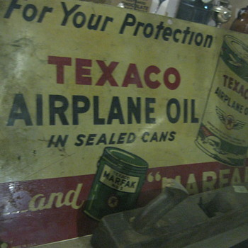 Texaco Airplane Oil vintage sign - Advertising