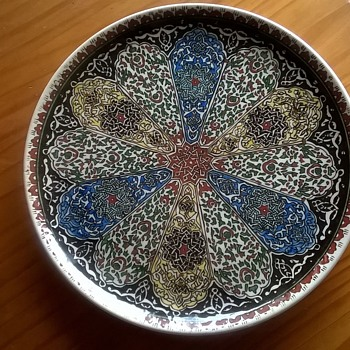 Cini Kutahya Turkish Charger, Flea Market Find, $2.50 - Art Pottery