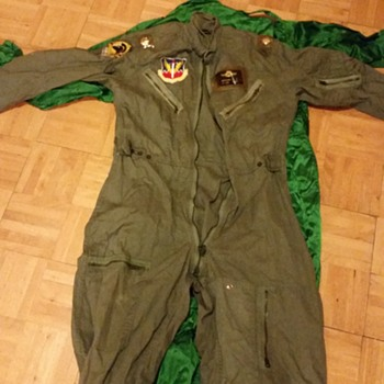 usaf skoshi tiger flight suit and f105 joke suit