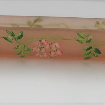 Pink Frosted Glass Posy Vase - Glassware