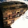 Antique hump back steamer trunk