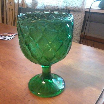 interesting green goblet - Glassware