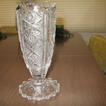 Pressed glass vase - Glassware