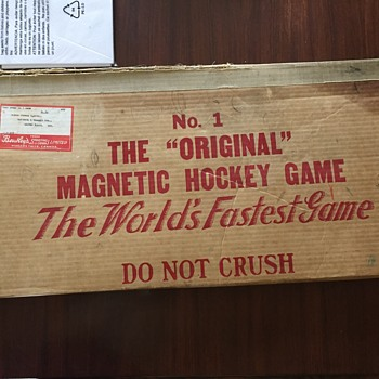 Worlds 1st magnetic hockey game - Games