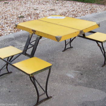 Fold Out Table & Chairs - Furniture