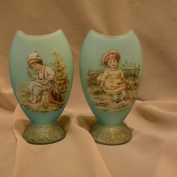 Riedel Glass vases with children