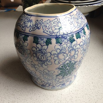 Blue & White vase, interesting shape