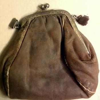 "Antique ""Victorian?"" leather purse"