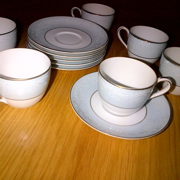 Vintage Noritake Demitasse Cups and Saucers - China and Dinnerware
