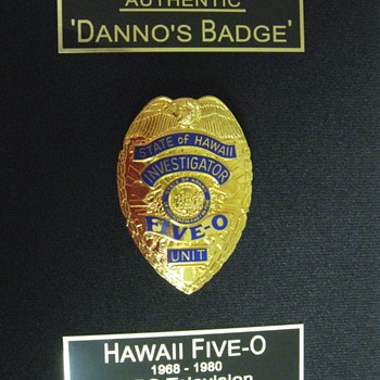 Danno's Badge . . . Hawaii Five-O
