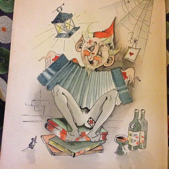 Watercolour painting ? Cat in the hat ?