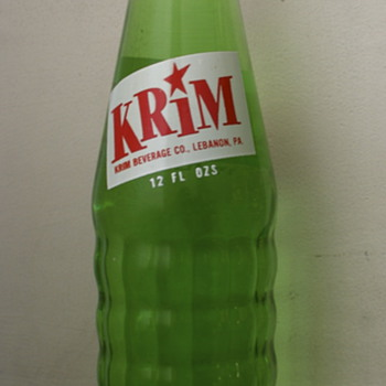 Krim Pop Bottle...Lebanon, PA
