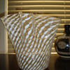 Very large glass handkerchief vase