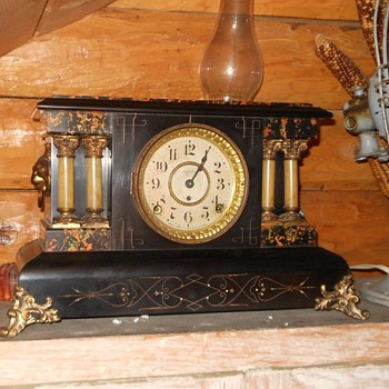 Seth Thomas Shelf/Mantel Adamantine Clock Patent 1880 - Clocks