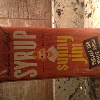 Sunny Jim Syrup Tin - Advertising
