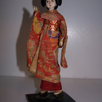 My mothers hope chest, Chinese Porcelin straw Doll
