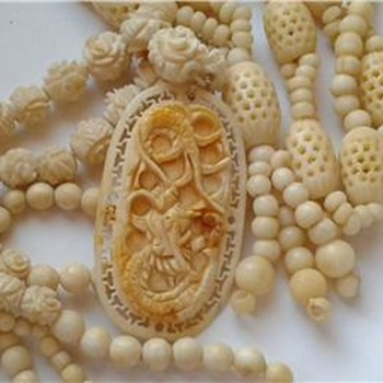 Carved bone necklaces