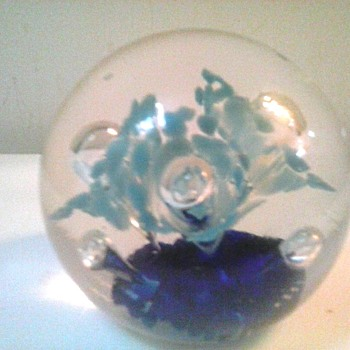 Joe Zimmermann Paperweight/ Signed / Circa 1963-1986 - Art Glass