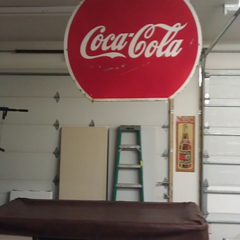 Large coke sign