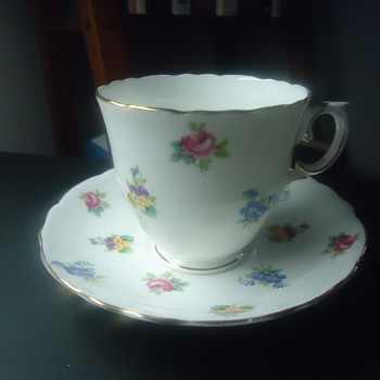 fine bone china from englan grow cup and plate