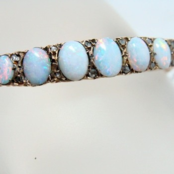 Opal and Diamond Bracelet