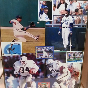 BO JACKSON PHOTO AND CARDS