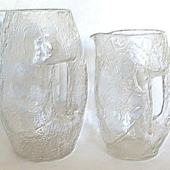 LOETZ CRACKLE JUG 3175 VARIANT - Art Glass