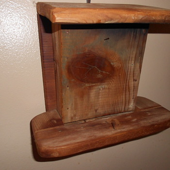 Recycled wood bird feeder