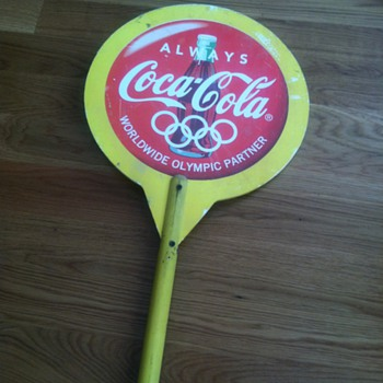 Coca-Cola Olympic Lollipop Sign