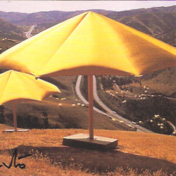 Signed Christo postcards