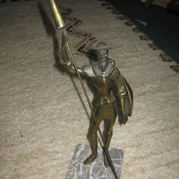 Don Quixote bronze statue - 1970s Brutalism - Mid-Century Modern