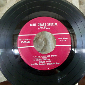 Rusty York and The Kentucky Mountain Boys Extended Play 45rpm - Records