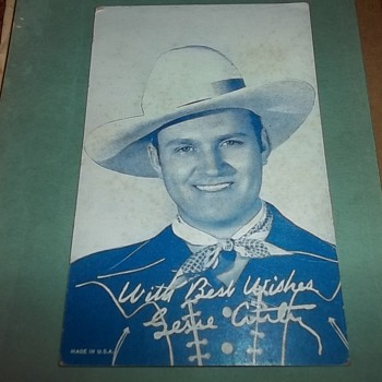 GENE AUTRY CARD