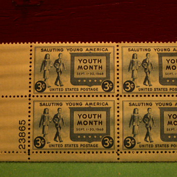 1948 Saluting Young America 3¢ Stamps - Stamps