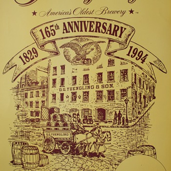 Yuengling Brewery 1994 165th Anniversary Poster