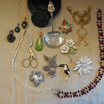 Flea Market Finds, but a Thrift Store BUY!  - Fine Jewelry