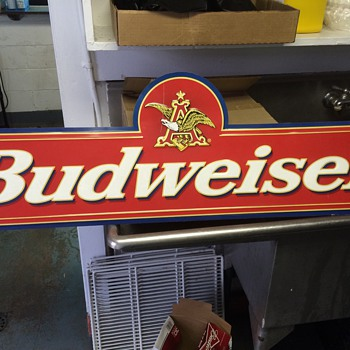 My vintage budweiser tin sign