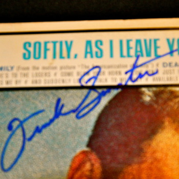 Frank Sinatra Signed Cover