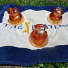 INSULATORS ..1963 MADE IN THE U.S.A. PYREX T.M.