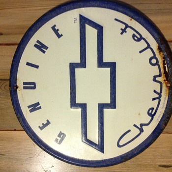 Genuine Chevrolet Round Sign - Signs