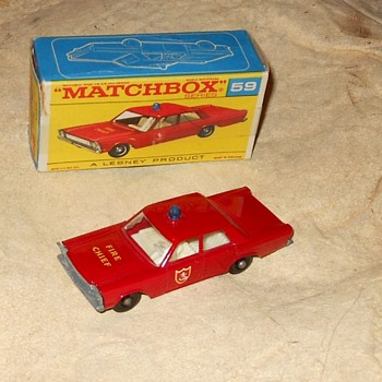 Matcxhbox #59C Fire Chief Car 1968-1969 - Model Cars