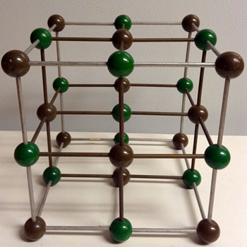 Mid Century Metaloglass, Inc. Sculptural Molecular Model of Sodium Chloride