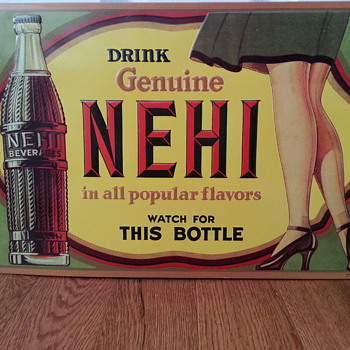 NEHI advertisement tin - Advertising