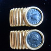 Constantine I & II Jr.  Authentic Roman Rare Coins  (18 kt gold earrings)