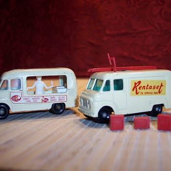 Matchbox ice cream truck and tv repair truck