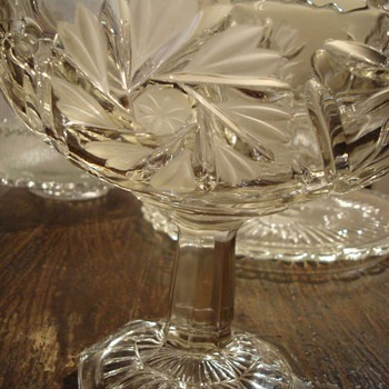 Gorgeous Pressed and Etched EAPG Compote - Glassware